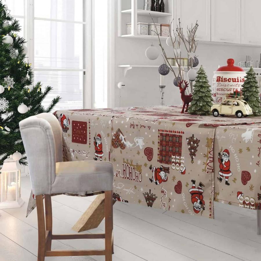 Χριστουγεννιάτικο τραπεζομάντηλο 570 Das Home 140x180
