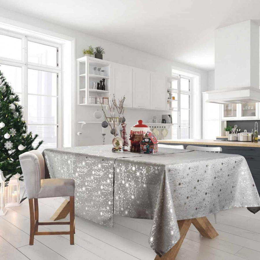 Χριστουγεννιάτικο τραπεζομάντηλο 573 Das Home 140x180