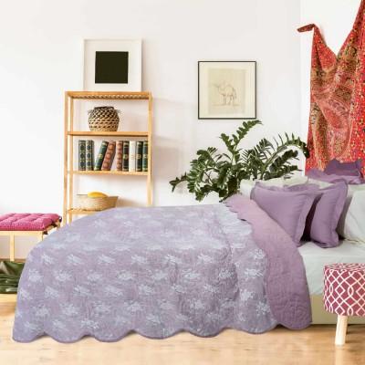 Κουβερλί Υπέρδιπλο Das Home Happy 9361 Microvelvet Γαλάζιο 220x240