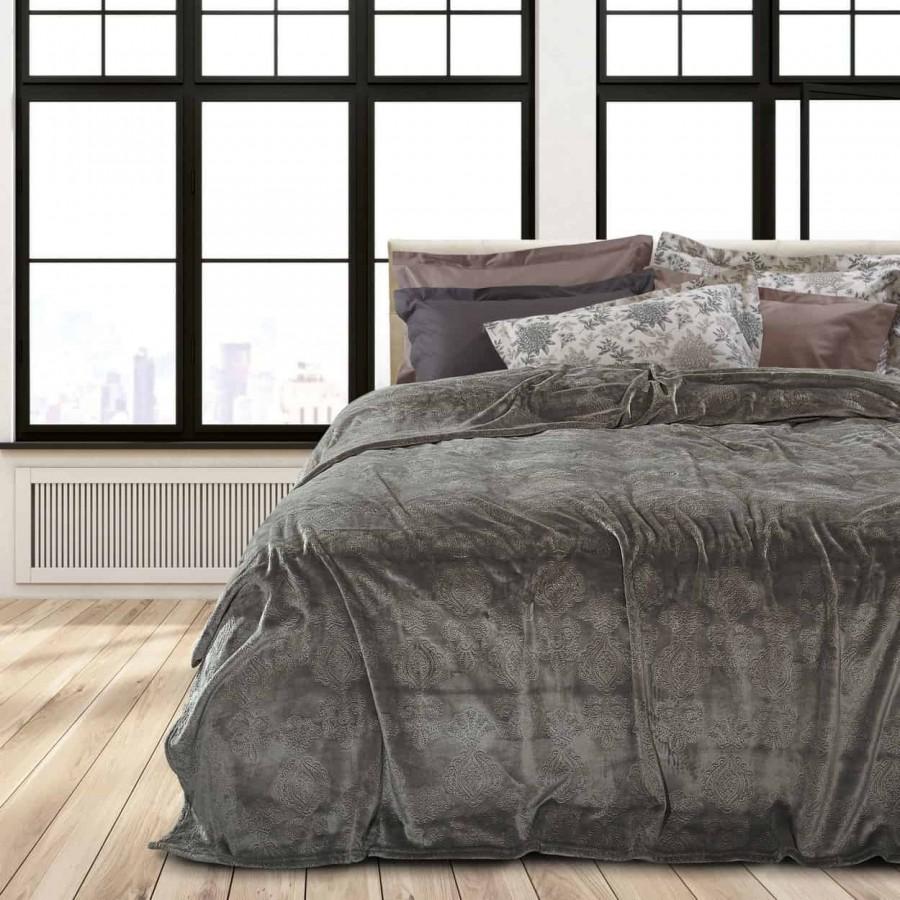 Κουβέρτα Υπέρδιπλη Fleece ανάγλυφη das home 420 220x240