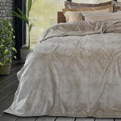 Κουβέρτα Υπέρδιπλη Fleece ανάγλυφη das home 421 220x240