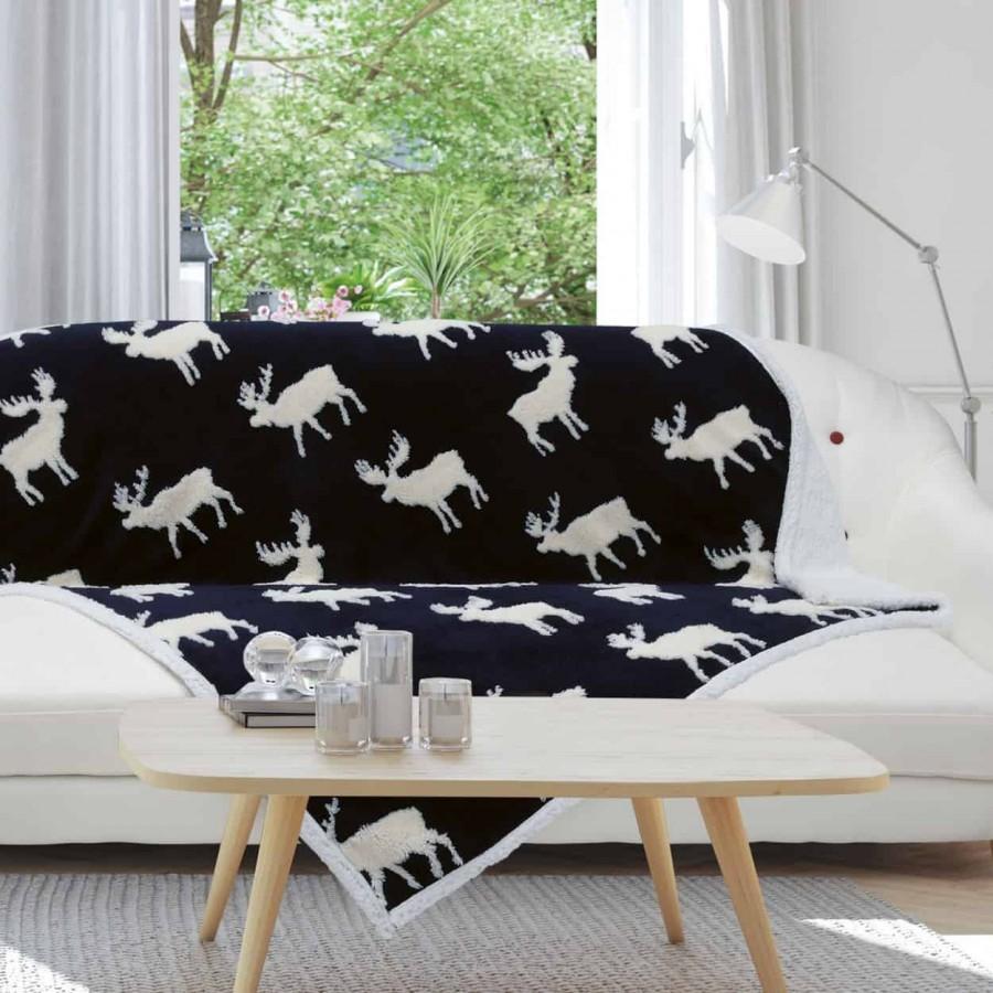 Κουβέρτα καναπέ με γούνα Das Home 408 130x170