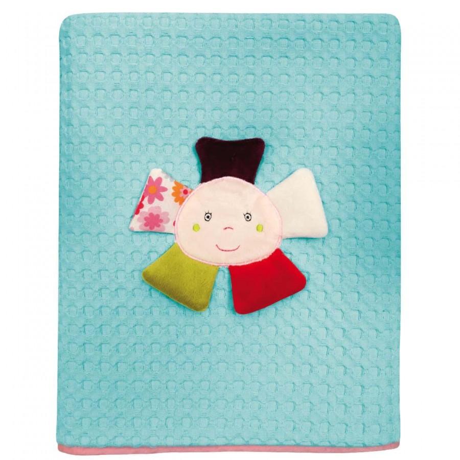 Κουβέρτα Πικέ Αγκαλιάς Das Baby 6396 80x110