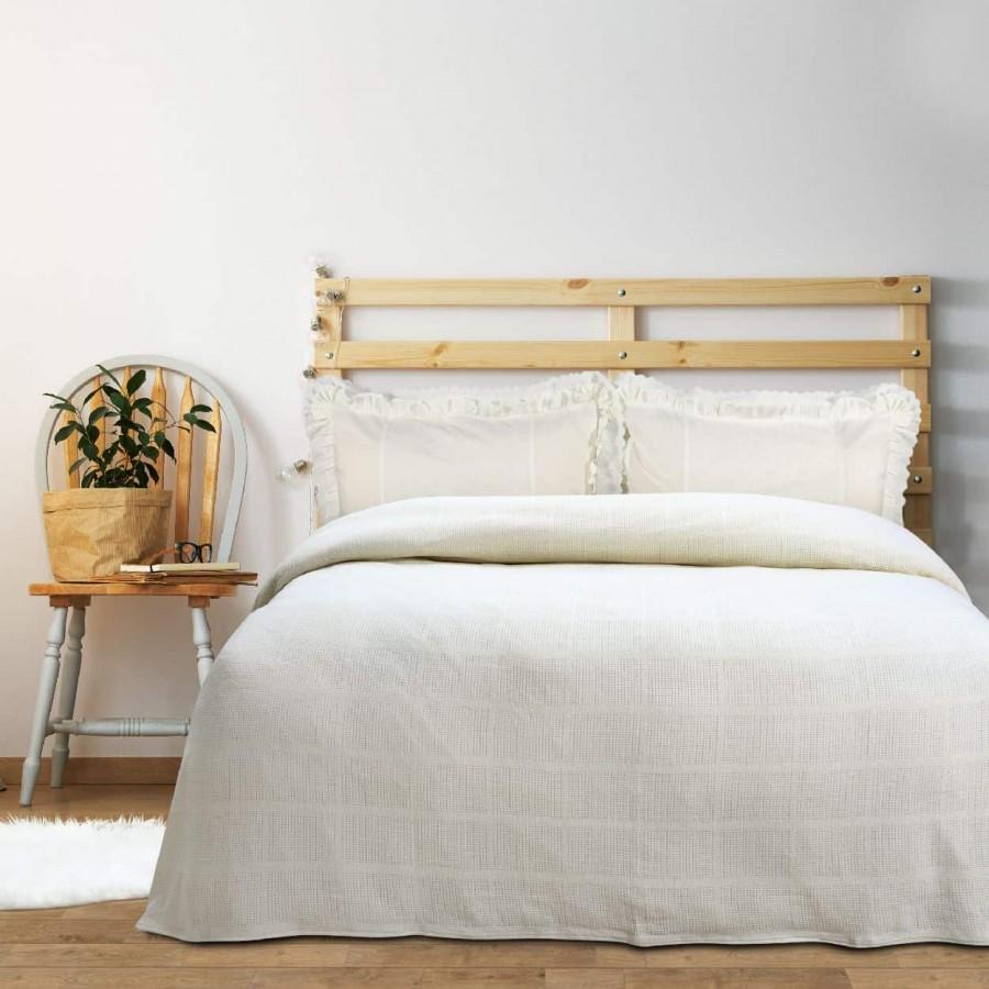 Κουβέρτα Πικέ Υπέρδιπλη Das home Blanket Line 373 220x240