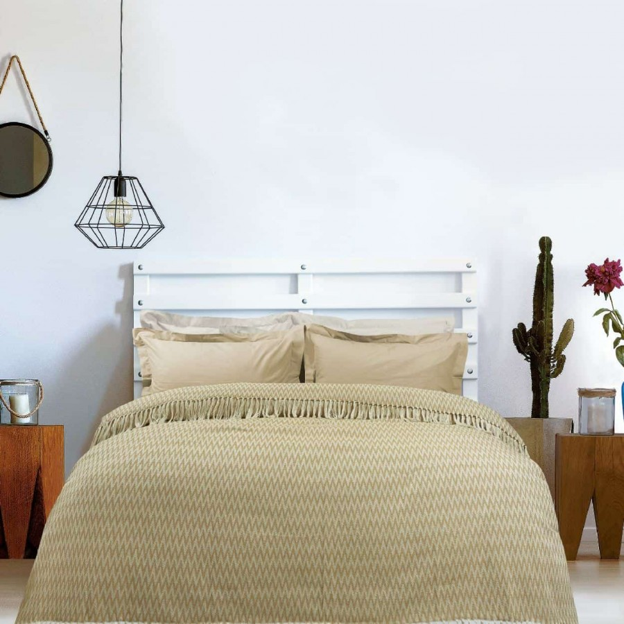 Κουβέρτα Πικέ Μονή με Κρόσια Das Home 380 170x260