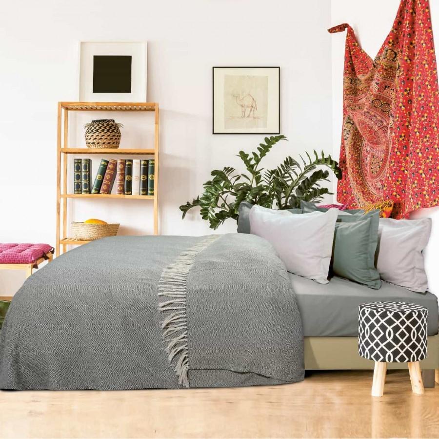 Κουβέρτα Πικέ Μονή με Κρόσια Das Home 384 170x260