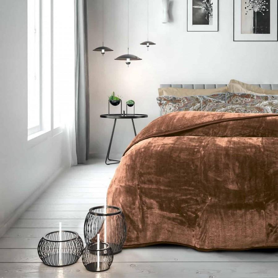 Κουβέρτα Βελουτέ Υπέρδιπλη Das Home 393 220x240