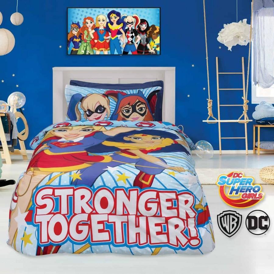 Πάπλωμα Μονό Σετ Super Hero Girls 5005 160x240