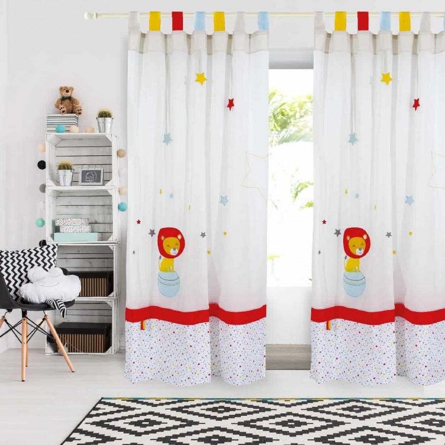 Παιδική Κουρτίνα με θηλιές Das Home 2125 140x260