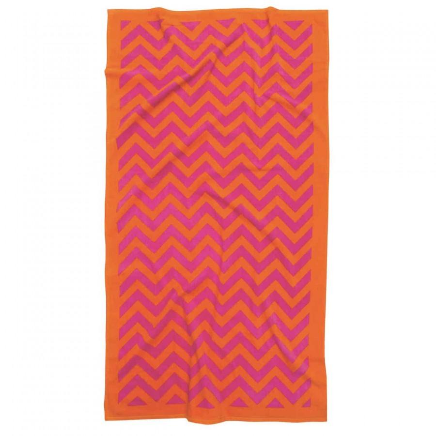 Πετσέτα θαλάσσης πορτοκαλί 90x180 Das home 475