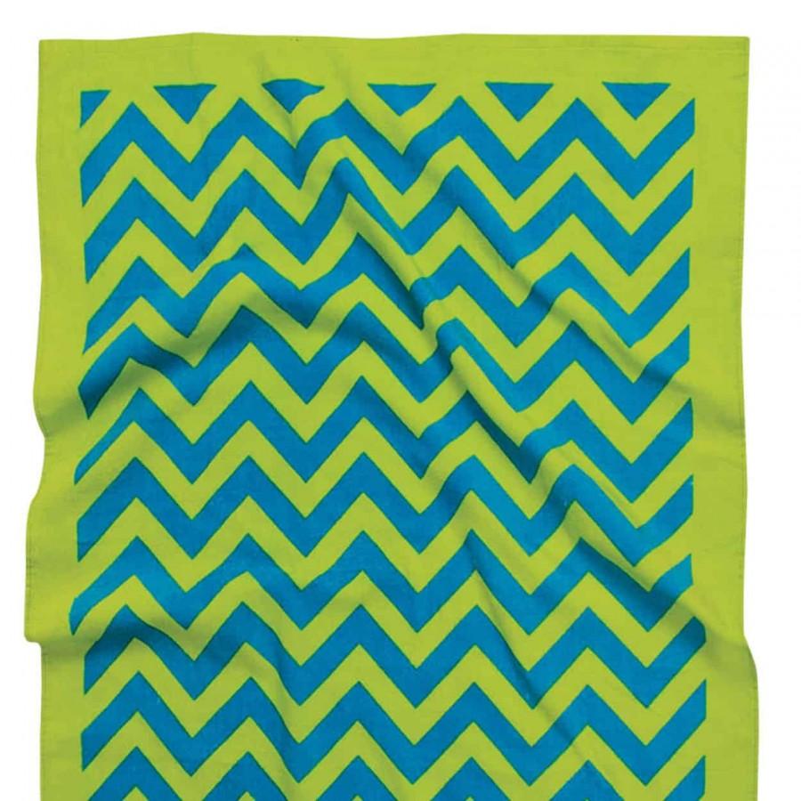 Πετσέτα θαλάσσης πράσινη 90x180 Das home 476