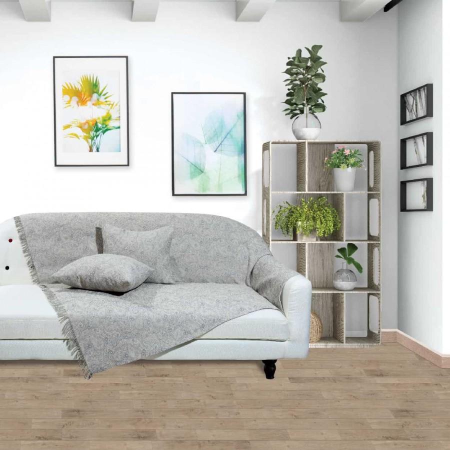 Ριχτάρι Τριθέσιου Das Home 102 Throws 180x300 Γκρί-Εκρού