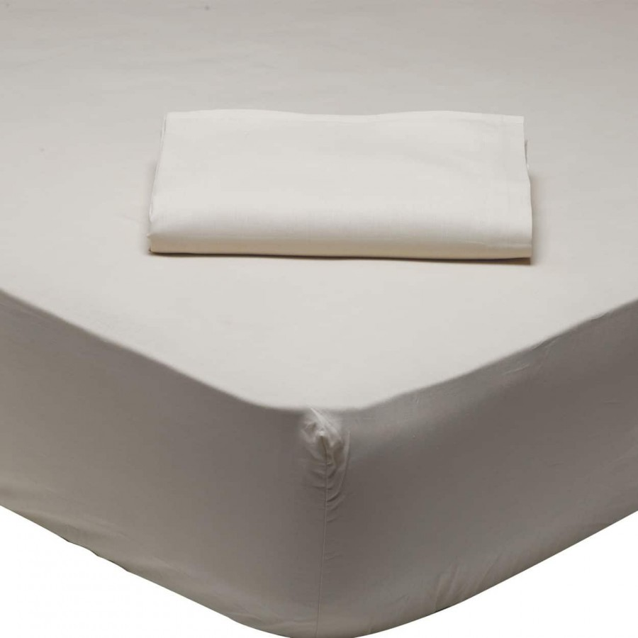 Σεντόνι Μονό Μονόχρωμο με λάστιχο Μπέζ 1002 Das Home 110x200+35