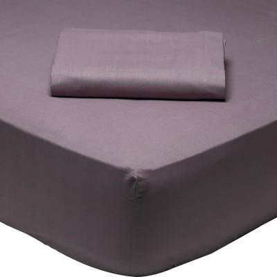 Σεντόνι Μονό Μονόχρωμο με λάστιχο Δαμασκηνί 1010 Das Home 110x200+35