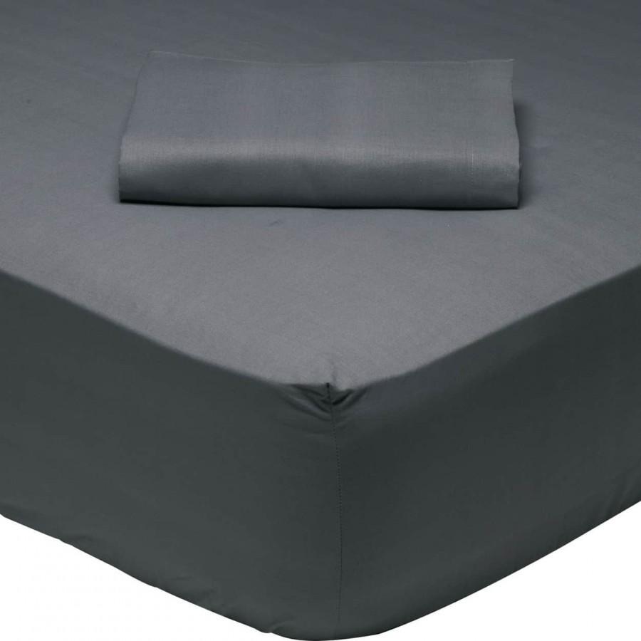 Σεντόνι Μονό Μονόχρωμο με λάστιχο Γκρί 1007 Das Home 100x200+35