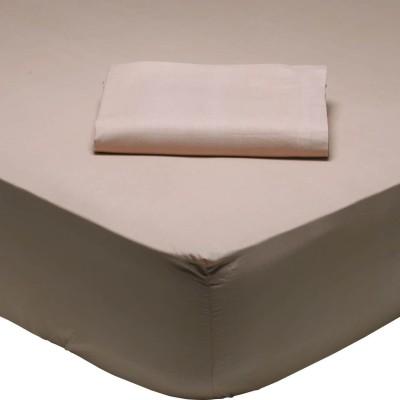 Σεντόνι Μονό Μονόχρωμο με λάστιχο Σομόν 1011 Das Home 110x200+35