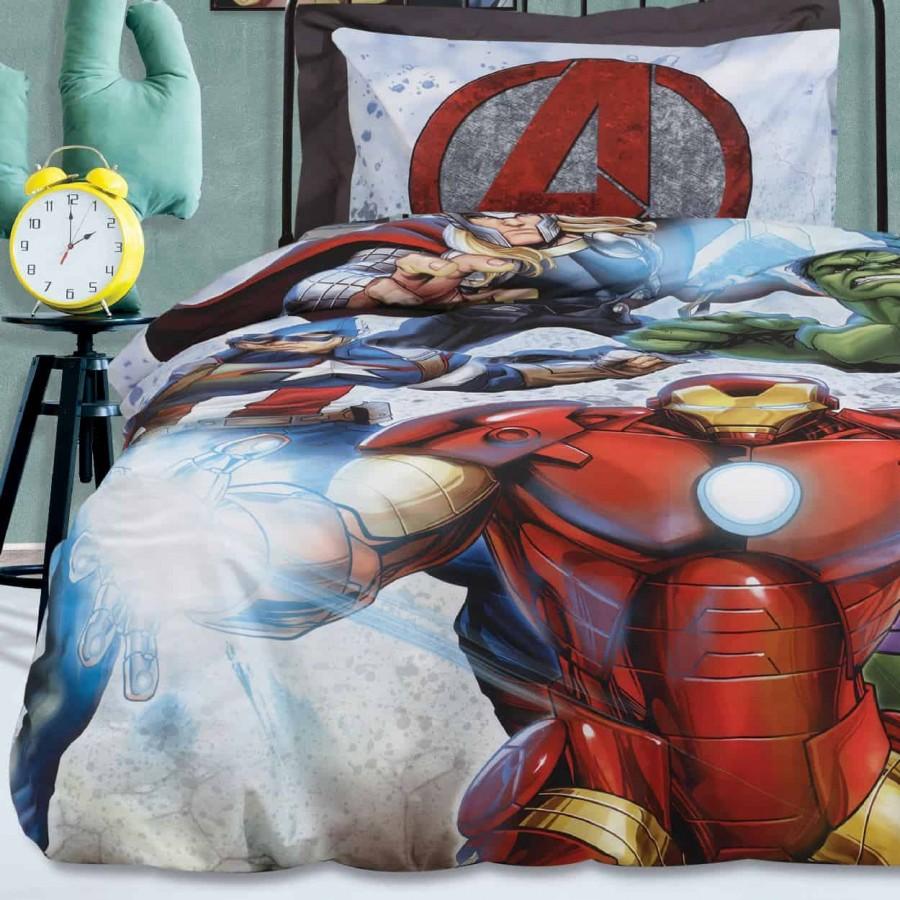 Σετ Παπλωματοθήκη Μονή Avengers 5006 160x240