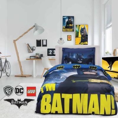 Σετ Παπλωματοθήκη Μονή Lego Batman 5003 160x240