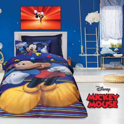 Σετ Παπλωματοθήκη Μονή Mickey 5011 160x240