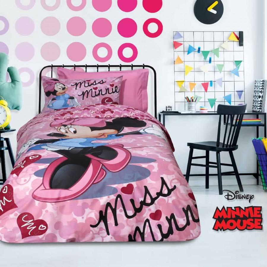 Σετ Παπλωματοθήκη Μονή Minnie 5014 160x240