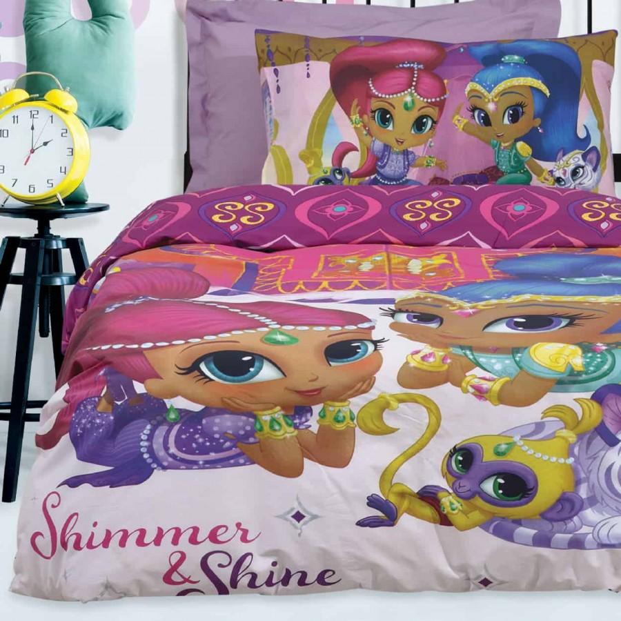 Σετ Παπλωματοθήκη Μονή Shimmer & Shine 5001 160x240