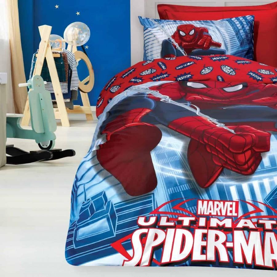 Σετ Παπλωματοθήκη Μονή Spiderman 5010 160x240
