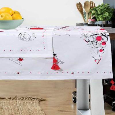 Τραπεζομάντηλο Das Home Kitchen Line 526 140Χ140