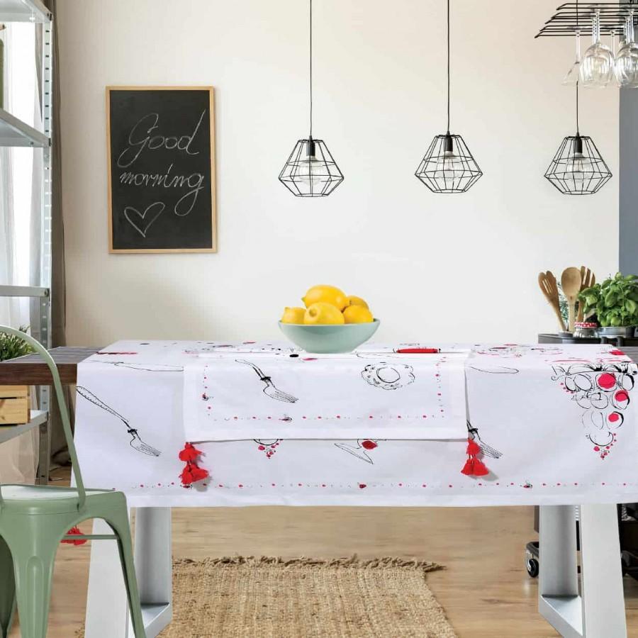 Τραπεζομάντηλο Das Home Kitchen Line 526 140Χ240