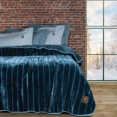 Κουβέρτα Υπέρδιπλη Βελουτέ Polo 2428 220x240