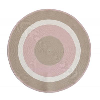 Χαλί Vintage Φ 120 Beige/Pink