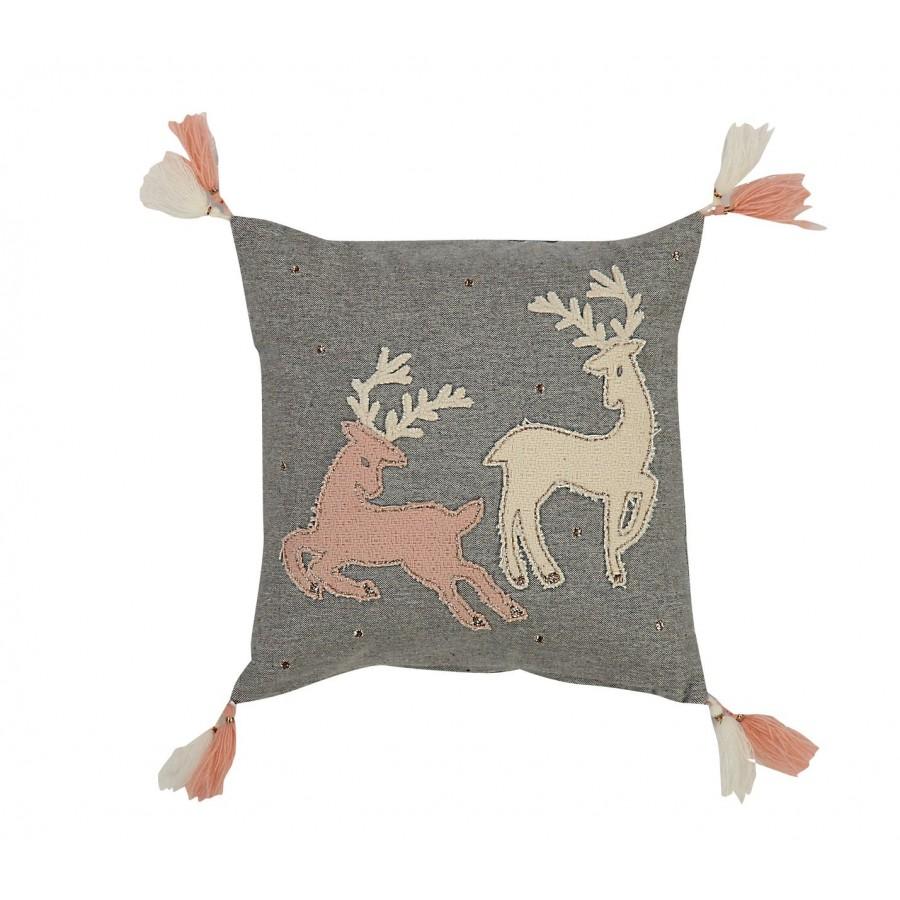 Διακοσμητικό Μαξιλάρι  Happy Christmas Deers  Nef-Nef  30X30
