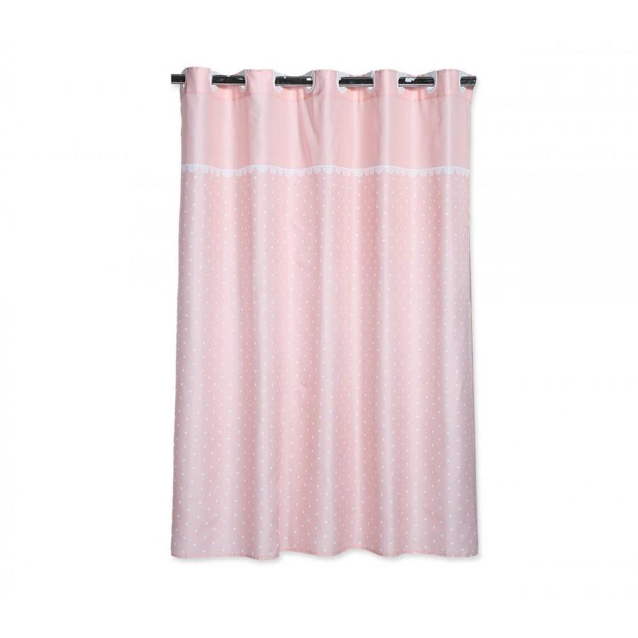 Κουρτίνα Μπάνιου Nef Nef Romantic Ροζ Nef Nef 180x180