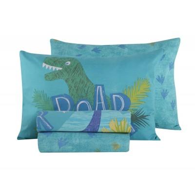 Παιδικά Σεντόνια Μονά Σετ Dinosaur World 160x260