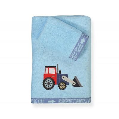 Παιδικές Πετσέτες Σετ Busy At Work 30x40 - 70x140