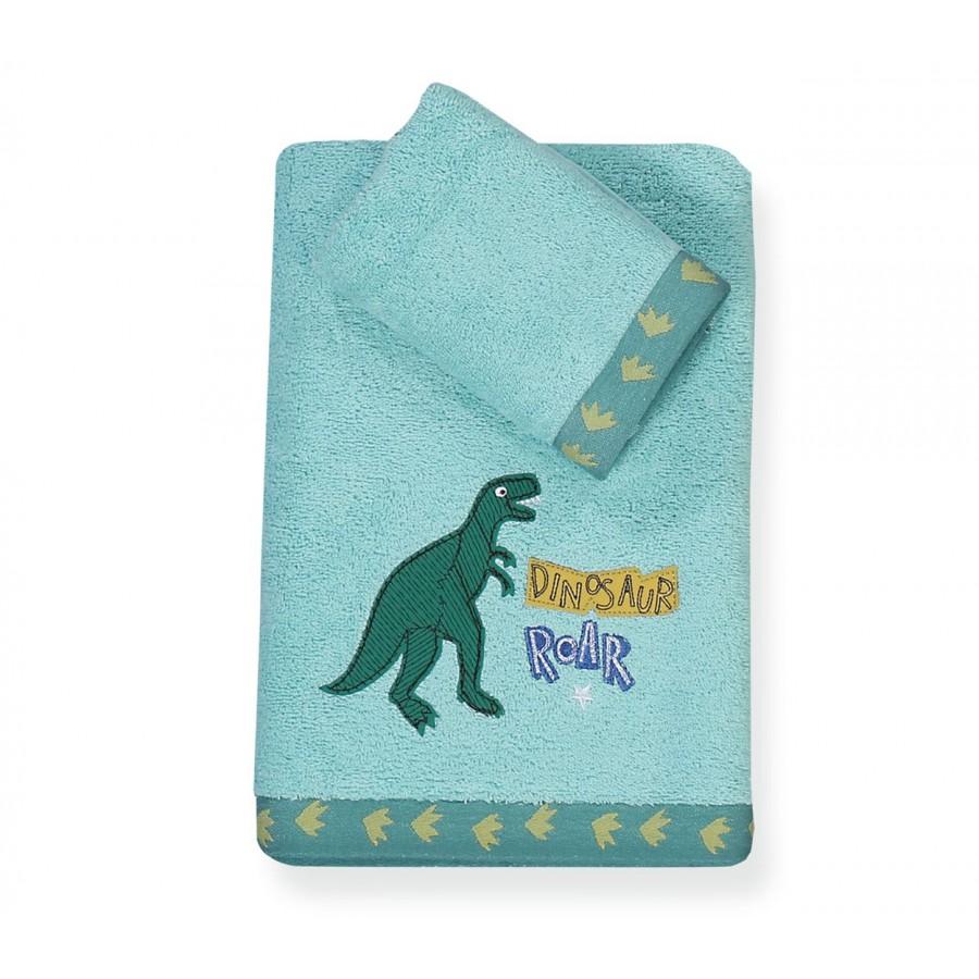 Παιδικές Πετσέτες Σετ Dinosaur World 30x40 - 70x140