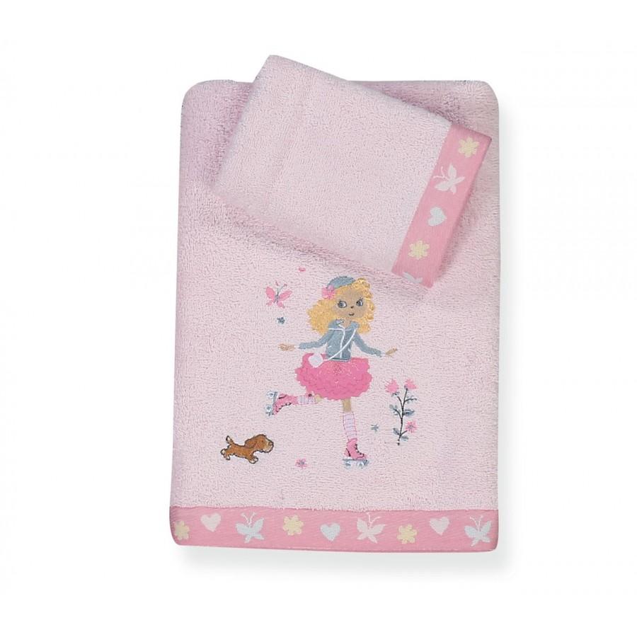 Παιδικές Πετσέτες Σετ Roller Girl 30x40 - 70x140