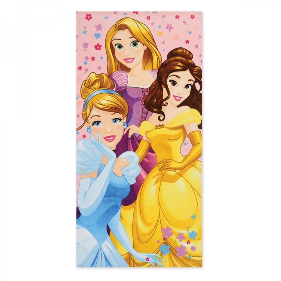 Παιδική Πετσέτα Θαλάσσης Princess Diamonds 70x140