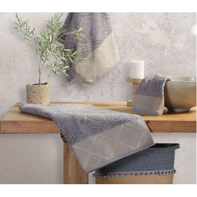 Πετσέτα Χεριών Ava Dark Grey Nef-Nef  30X50