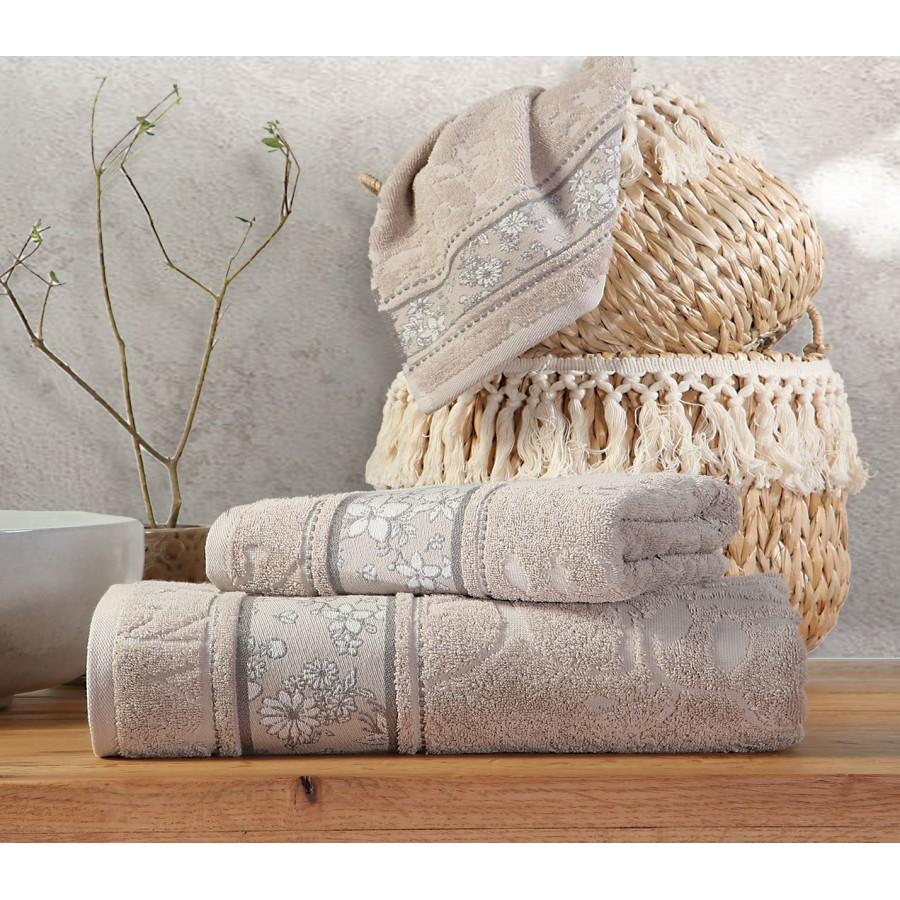 Πετσέτα Προσώπου Angie Beige Nef-Nef  50X90