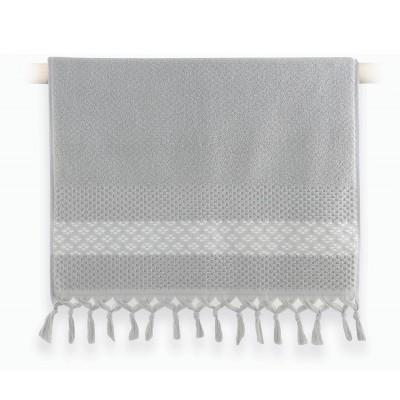 Πετσέτα Προσώπου Elvia Grey 50x90