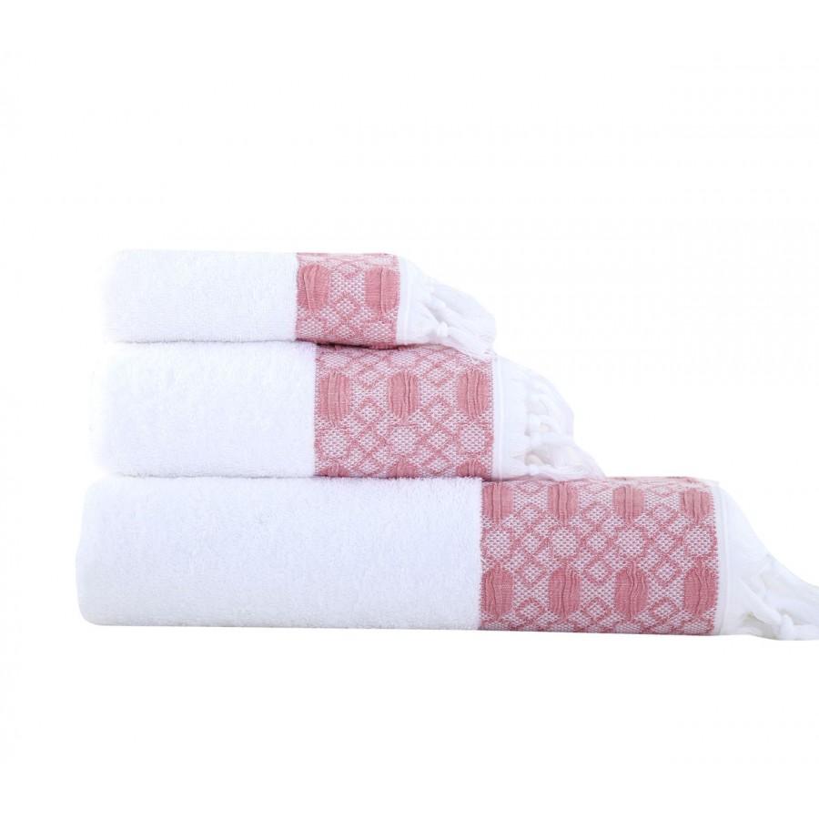 Πετσέτα Προσώπου Vessi Pink 50x90