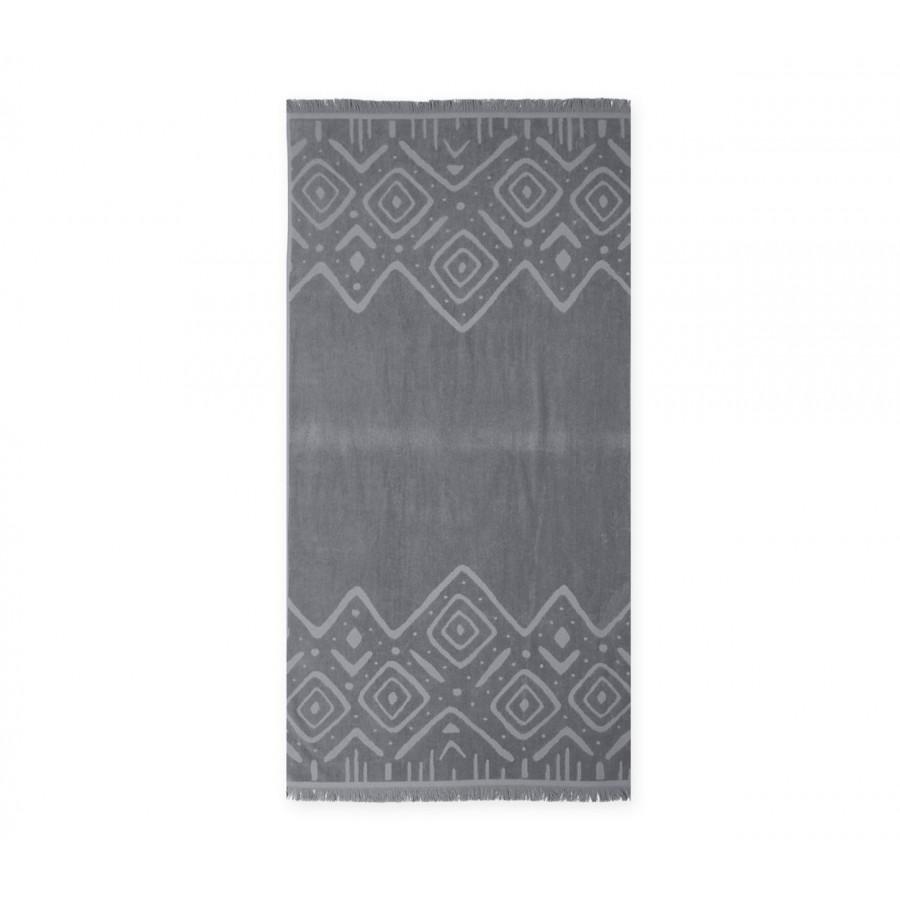 Πετσέτα Θαλάσσης True Embossed 80X160 Grey