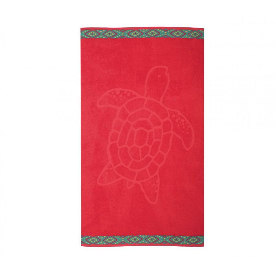 Πετσέτα Θαλάσσης Turtle 70X120 Red