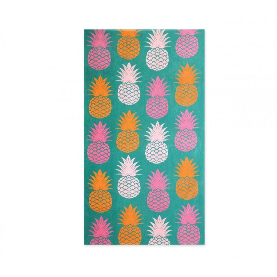 Πετσέτα Θαλάσσης Βαμβακερή Pineapples 75X150
