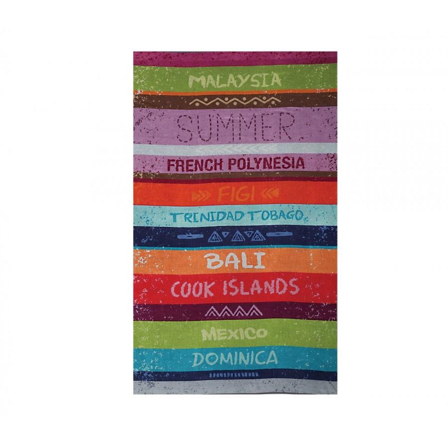 Πετσέτα Θαλάσσης Βαμβακερή Tropic Islands 100X180