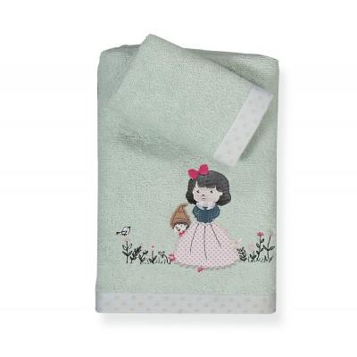 Πετσέτες Παιδικές Σετ Snow White 30x40 - 70x140