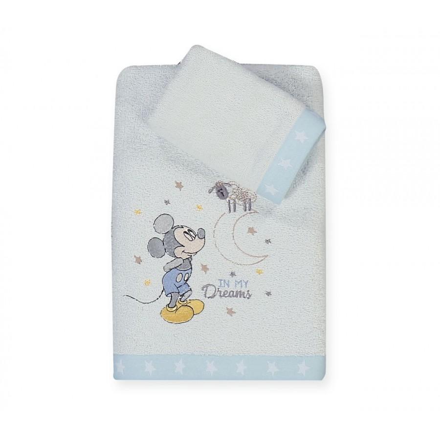 Πετσέτες Σετ 2 Τεμαχίων Mickey's Dreams 30x40 - 70x140