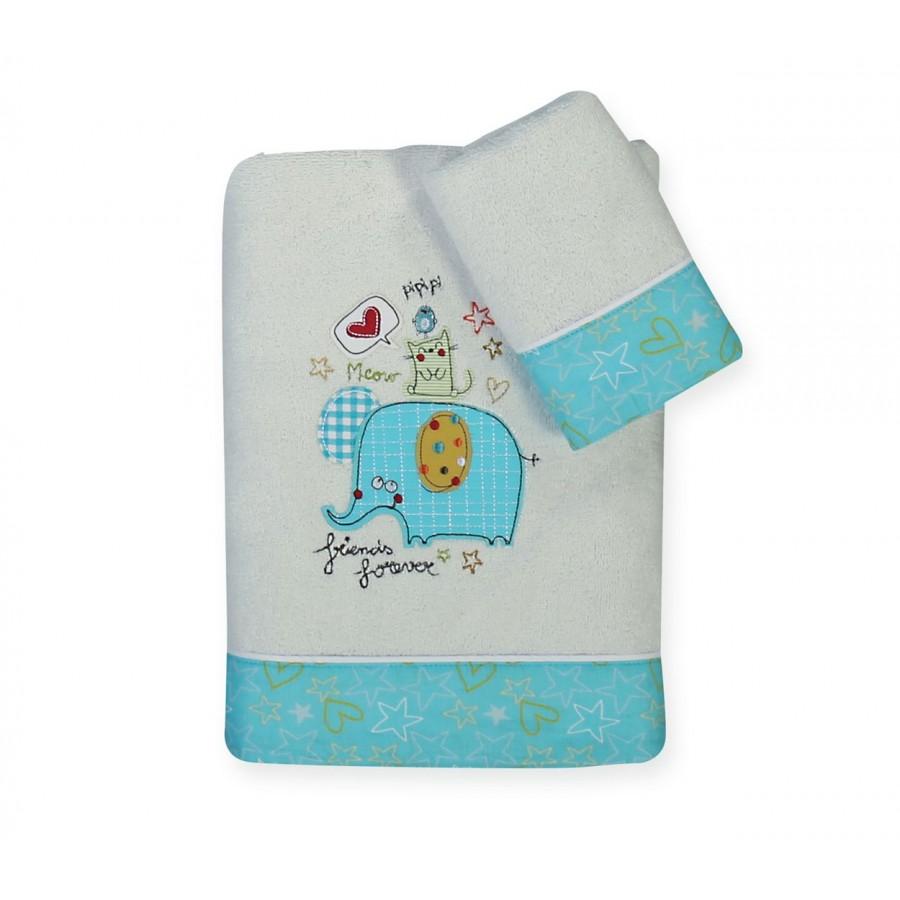 Πετσέτες Σετ 3 Friends 30x40 - 70x140