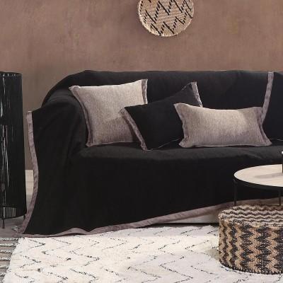 Ριχτάρι Διθέσιου Καναπέ New Tanger Black - Beige Nef-Nef  180X250