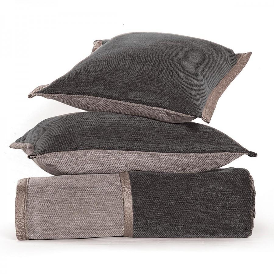 Ριχτάρι Διθέσιου Καναπέ New Tanger Dark Grey - Light Grey Nef-Nef  180X250